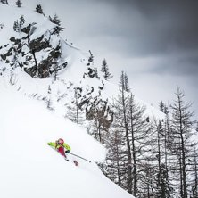 Finding nice snow up around Montenvers!