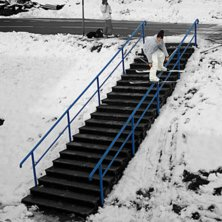 Smurf rail i smurfiga Schweis..... Photo: Julian Forman. Rider: Ad@m.