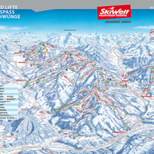Trail map SkiWelt Wilder Kaiser